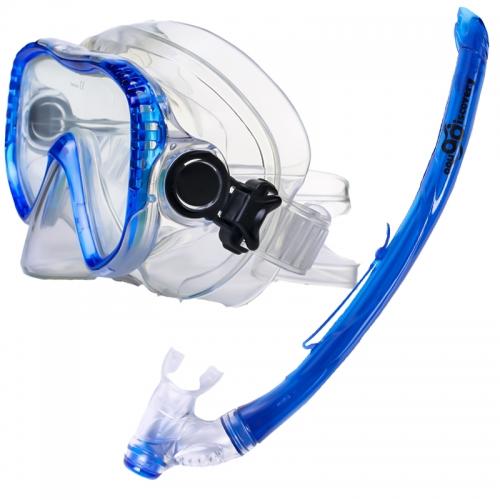 Набор маска + трубка Aqua Discovery Sea