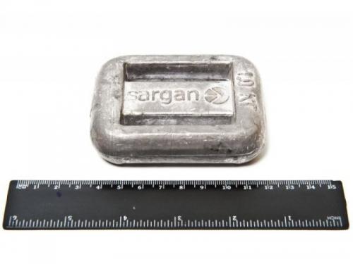 Груз поясной Sargan, анатомический, 1 кг